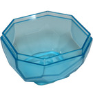 LEGO Bleu clair transparent Rock 4 x 4 x 1.667 Bas (30294)