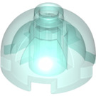 LEGO Transparent Light Blue Round Brick 2 x 2 with Dome Top (Hollow Stud with Bottom Axle Holder x Shape + Orientation) (18841 / 40528)