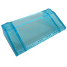 LEGO Transparent Light Blue Slope 3 x 6 (25°) with Inner Walls (3939)