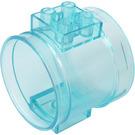 LEGO Transparent Light Blue Tube Straight (49736)