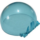 LEGO Transparent Light Blue Windscreen 6 x 6 x 3 Dome with Hinge (30083)