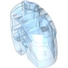 LEGO Transparent Medium Blue Bionicle Head Base (64262)
