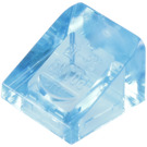 LEGO Transparent Medium Blue Slope 1 x 1 (31°) (50746)