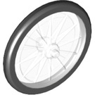 LEGO Transparent Minifigure Bicycle Wheel without Removable Tyre (92851)