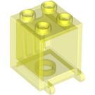 LEGO Transparent Neon Green Mailbox Casing 2 x 2 x 2 (30060)