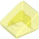 LEGO Transparent Neon Green Slope 1 x 1 (31°) (35338 / 50746)