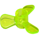 LEGO Transparent Neon Green Small Boat Propeller with 3 Blades (6041)