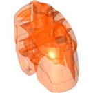 LEGO Transparent Neon Reddish Orange Bionicle Head Base (64262)