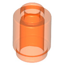 LEGO Transparent Neon Reddish Orange Brick Round 1 x 1 with Open Stud (3062 / 30068 / 35390)