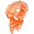 LEGO Transparent Neon Reddish Orange Hero Factory Chest Badge (87799)