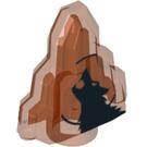 LEGO Transparent Neon Reddish Orange Moonstone with Howling Wolf Decoration (10771)