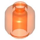 LEGO Transparent Neon Reddish Orange Plain Head (Recessed Solid Stud) (30011)