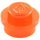 LEGO Transparent Neon Reddish Orange Plate 1 x 1 Round (6141 / 30057 / 34823)