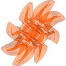 LEGO Transparent Neon Reddish Orange Propellor 8 Blade 5 Diameter (41530)