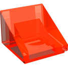 LEGO Transparent Neon Reddish Orange Slope 31° 1 x 1