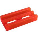LEGO Transparent Neon Reddish Orange Tile 1 x 2 Grille (with Bottom Groove) (30244 / 35248)