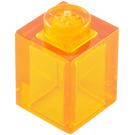 LEGO Transparent Orange Brick 1 x 1 (30071 / 35382)