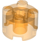 LEGO Transparent Orange Brick 2 x 2 Round (6116)