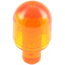 LEGO Transparent Orange Light Cover 1 x 1 x 1.667 with Bar (28624 / 58176)