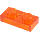 LEGO Transparent Orange Plate 1 x 2 (6225 / 28653)