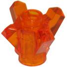 LEGO Transparent Orange Rock 1 x 1 with 4 Points (11127)
