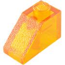 LEGO Transparent Orange Slope 1 x 2 (45°) (6270 / 35281)