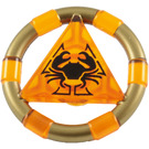LEGO Transparent Orange Treasure Ring (89160)