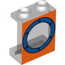 LEGO Panel 1 x 2 x 2 with Porthole with Side Supports, Recessed Solid Studs (56077)