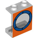 LEGO Transparent Panel 1 x 2 x 2 with Porthole without Side Supports, Hollow Studs (56077)