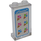 LEGO Panel 1 x 2 x 3 with 6 Ice Cream Cones Sticker with Side Supports - Hollow Studs (35340)