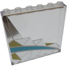 LEGO Transparent Panel 1 x 6 x 5 with Silver and Light Blue Pattern Right From set 41106 Sticker