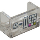 "LEGO Transparent Panel with Closed Corners 1 x 2 x 1 with ""5"", Coin Slot and Buttons Sticker"