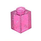 LEGO Transparent Pink Glitter Brick 1 x 1 (30071 / 35382)