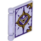 LEGO Transparent Purple Book Cover with Nexo Knights Book Of Evil Decoration (25282)
