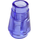 LEGO Transparent Purple Cone 1 x 1 with Top Groove (28701 / 64288)