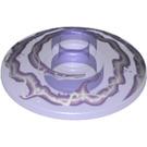 LEGO Transparent Purple Dish 2 x 2 Ø16 Inverted with Decoration (20268)