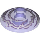 LEGO Transparent Purple Dish 2 x 2 Inverted with White and Lavender Lightning Swirl (20268)