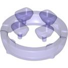 LEGO Transparent Purple Four Diamonds on Sprue (36451)
