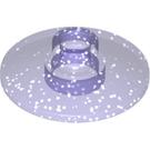 LEGO Transparent Purple Glitter Dish 2 x 2 Ø16 Inverted (30063 / 35395)