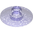 LEGO Transparent Purple Glitter Dish 2 x 2 Inverted (30063 / 35395)