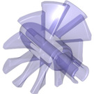 LEGO Transparent Purple Rotor Blades with Pin (18753)