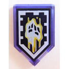 LEGO Transparent Purple Tile 2 x 3 Pentagonal with Malicious Melting Power Shield