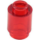 LEGO Transparent Red Brick Round 1 x 1 with Open Stud (3062 / 30068 / 35390)
