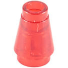 LEGO Cone 1 x 1 with Top Groove (4589 / 15551 / 55525)