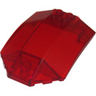 LEGO Transparent Red Curved Windscreen 6 x 8 x 2 (41751)
