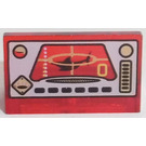 LEGO Transparent Red Panel 1 x 2 x 1 with Underwater Control Panel Decoration without Rounded Corners
