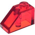 LEGO Transparent Red Slope 1 x 2 (45°) (6270)