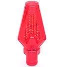 LEGO Transparent Red Spear Head Tip (27257)