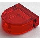 LEGO Transparent Red Tile 1 x 1 Half Oval (35398)