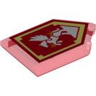 LEGO Transparent Red Tile 2 x 3 Pentagonal with Silver Pegasus Power Shield (29092)